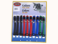 ADJUSTABLE CLIP COLLARS WITH BELL - 10/CARD, ASSORTED