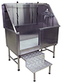PROFESSIONAL QUALITY STAINLESS BATH  - RETRACTABLE STEP