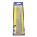 HUNTER 7'' STRAIGHT-BACK COMB - DOUBLE DENTED, MEDIUM/COARSE