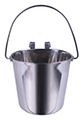 STAINLESS FLAT-SIDED HANGING PAIL